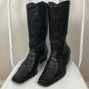 Harley Davidson l Black Leather Midnight Boots